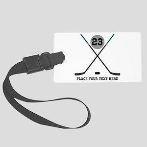 Ice Hockey Personalized Large Luggage Tag