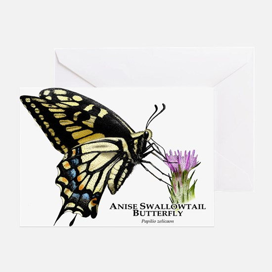 Anise Swallowtail Butterfly Greeting Card