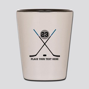 Ice Hockey Personalized Shot Glass