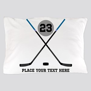 Ice Hockey Personalized Pillow Case