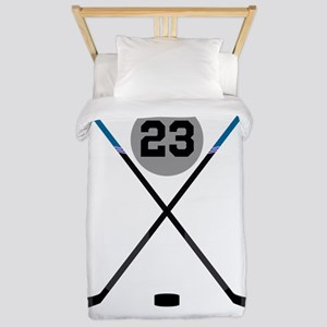Ice Hockey Personalized Twin Duvet Cover