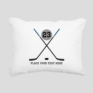 Ice Hockey Personalized Rectangular Canvas Pillow