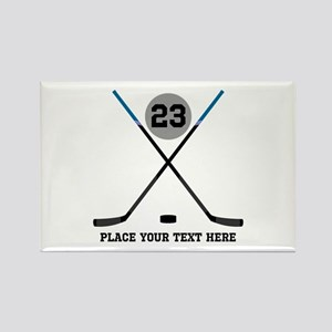 Ice Hockey Personalized Rectangle Magnet