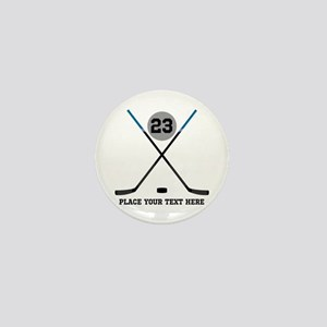 Ice Hockey Personalized Mini Button