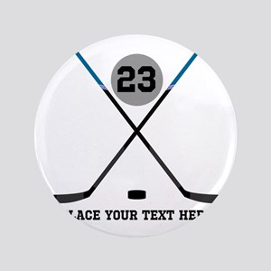 Ice Hockey Personalized Button