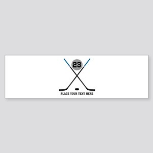 Ice Hockey Personalized Sticker (Bumper)