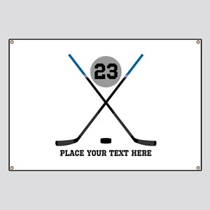 Ice Hockey Personalized Banner