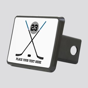 Ice Hockey Personalized Rectangular Hitch Cover