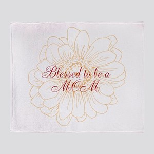 Blessed Mom Throw Blanket