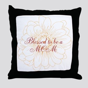 Blessed Mom Throw Pillow
