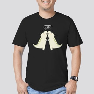 T rex hug Men's Fitted T-Shirt (dark)