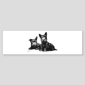 Scottie Dogs Sticker (Bumper)