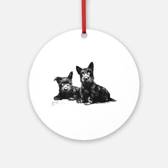 Scottie Dogs Ornament (Round)