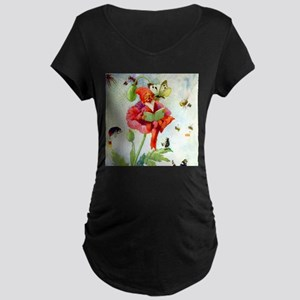 Poppy Gnome Maternity Dark T-Shirt