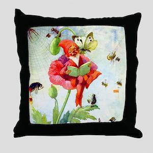 Poppy Gnome Throw Pillow