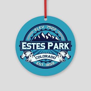 Estes Park Ice Ornament (Round)