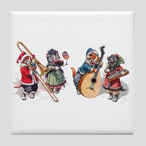Jazz Cats Tile Coaster