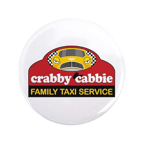 "Crabby Cabbie 3.5"" Button"