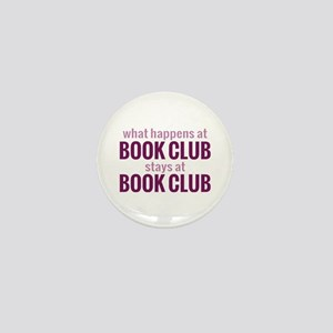 What Happens at Book Club Mini Button