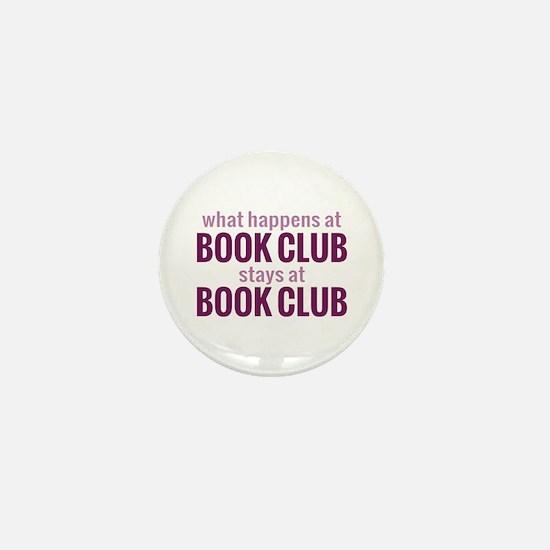 What Happens at Book Club Mini Button