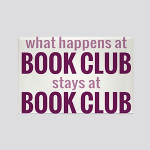 What Happens at Book Club Rectangle Magnet