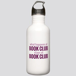 What Happens at Book Club Stainless Water Bottle 1