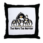 The More.. Penguin Group Throw Pillow