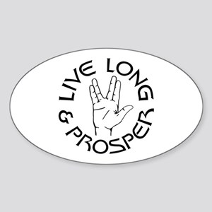 Live Long and Prosper Sticker (Oval)
