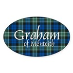 Tartan - Graham of Menteith Sticker (Oval 10 pk)