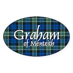 Tartan - Graham of Menteith Sticker (Oval 50 pk)