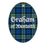 Tartan - Graham of Menteith Ornament (Oval)