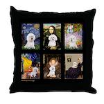 Bichon Masterpieces (A) Throw Pillow