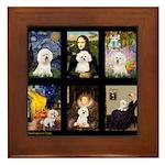 Bichon Masterpieces (A) Framed Tile