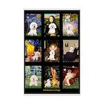 Bichon Masterpieces (A) Mini Poster Print