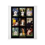 Bichon Masterpieces (A) Throw Blanket