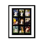 Bichon Masterpieces (A) Framed Panel Print