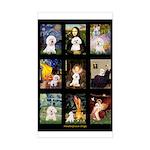 Bichon Masterpieces (A) Sticker (Rectangle)