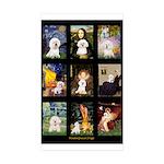 Bichon Masterpieces (A) Sticker (Rectangle 10 pk)
