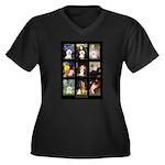Bichon Masterpieces (A) Women's Plus Size V-Neck D