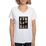 Bichon Masterpieces (A) Women's V-Neck T-Shirt