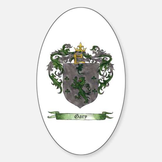 Gary Shield of Arms Oval Stickers