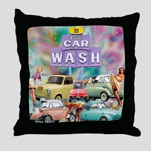 Gould's 2017 Microcar Classic Event Throw Pillow