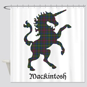 Unicorn-MacKintosh hunting Shower Curtain