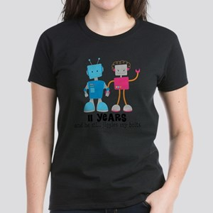 11 Year Anniversary Robot Couple T-Shirt
