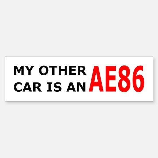 My other car is an AE86 Bumper Bumper Bumper Sticker