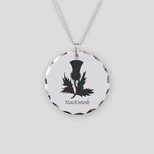 Thistle-MacKintosh hunting Necklace Circle Charm