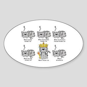 The Cat Sticker (Oval)