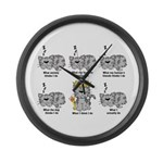 The Cat Large Wall Clock