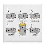 The Cat Tile Coaster