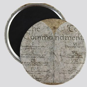 Ten Commandments 10 Laws Desi Magnet